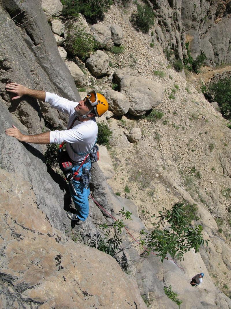 Erzincan kemaliye doğa sporları şenliği nde tırmanış
